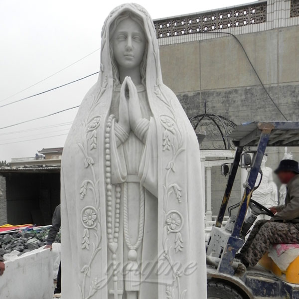 CHS-270 Church decorative Life Size marble our lady of fatima statue portugal for sale