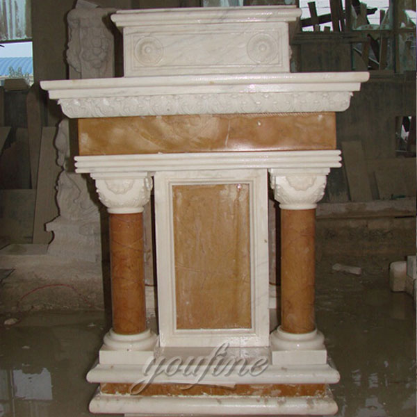 Hand Carved Antique Marble Church Podiums and Ambo for sale