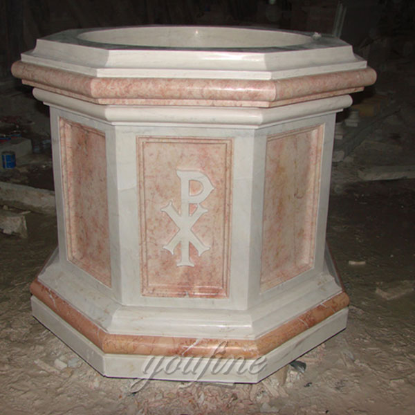 Beautiful Designs Catholic Marble Baptism Holy Water Font for Church