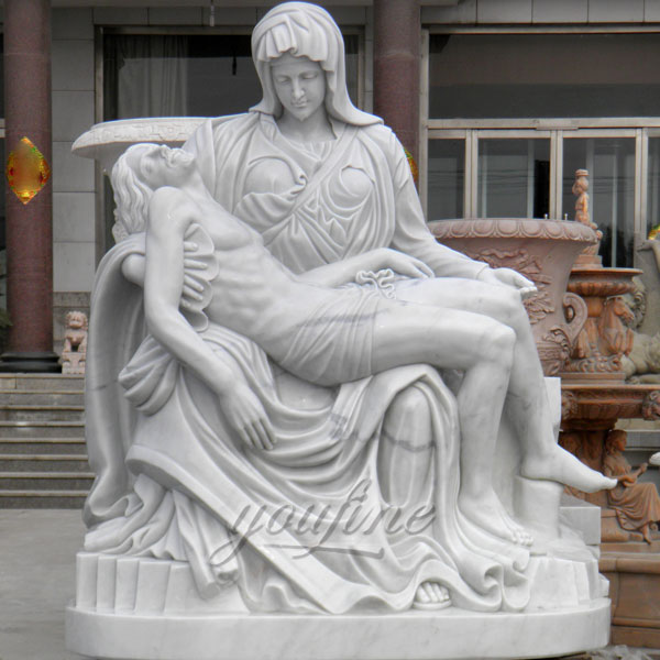 CHS-08 Catholic saint statues of Michelangelo Pieta Stone Mother Virgin Mary and jesus statues for home garden