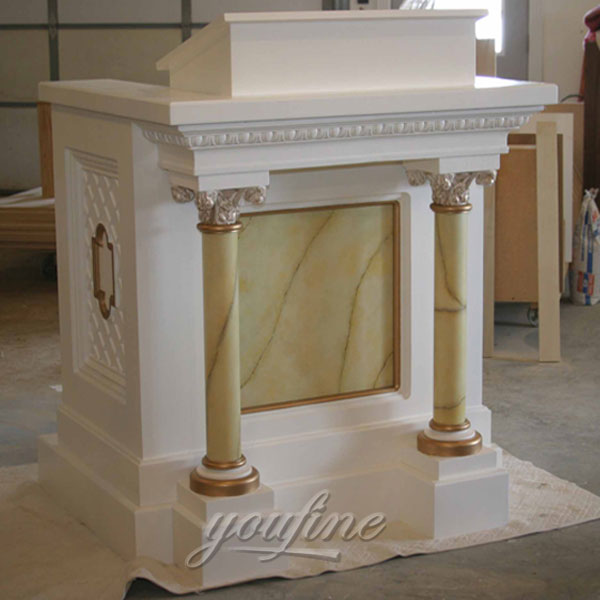 Hand Carved Garden Natural Marble Catholic Altar Designs for Sale