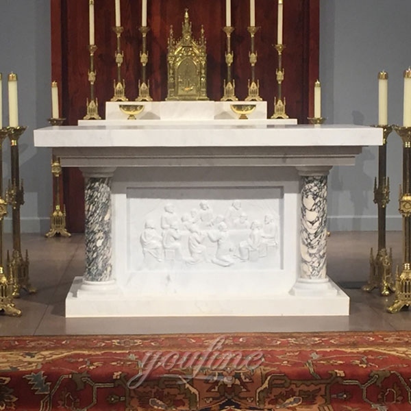 Church Decorative White Marble Altar Table Designs on Stock