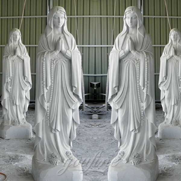 CHS-281 Catholic garden white marble statues mary our lady of Lourdes for Sale