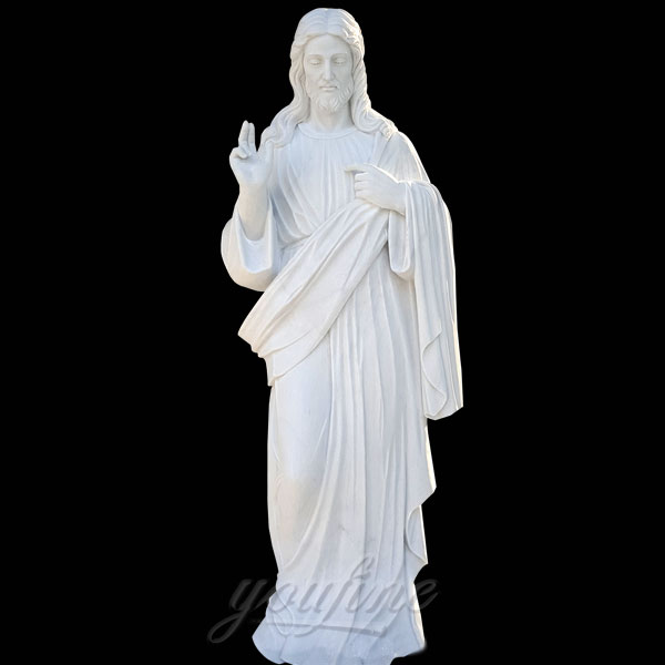 CHS-138 Church outdoor garden sacred heart statues of jesus 42inches in brazil for Sale