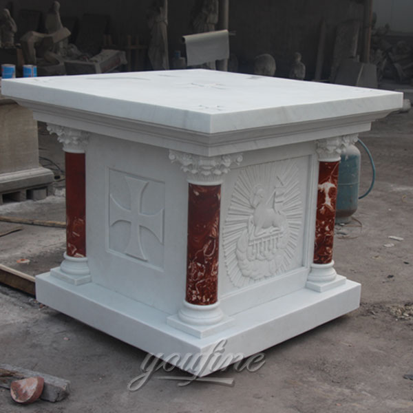 White Marble Catholic Altar Table for Church