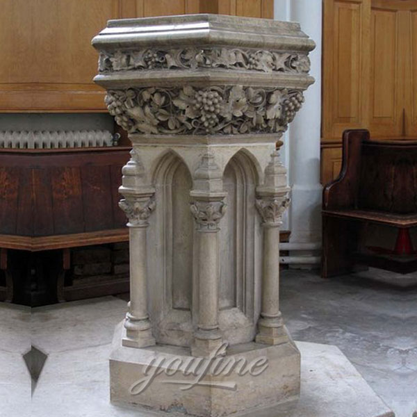 Indoor Marble Stone Luxury Altar in English for Church on Sale