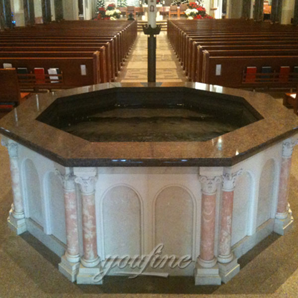 Buy Luxury Catholic Marble Water Font for Church Decor