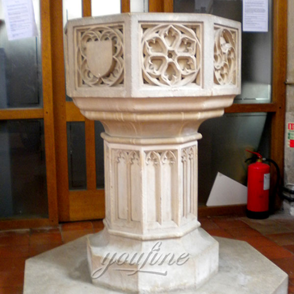Church Supplies Marble Holy Water Fonts for Sale