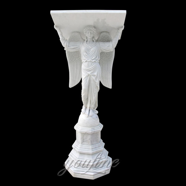 High Workmanship Popular Marble Altar Table with Angel Statues Design for Sales