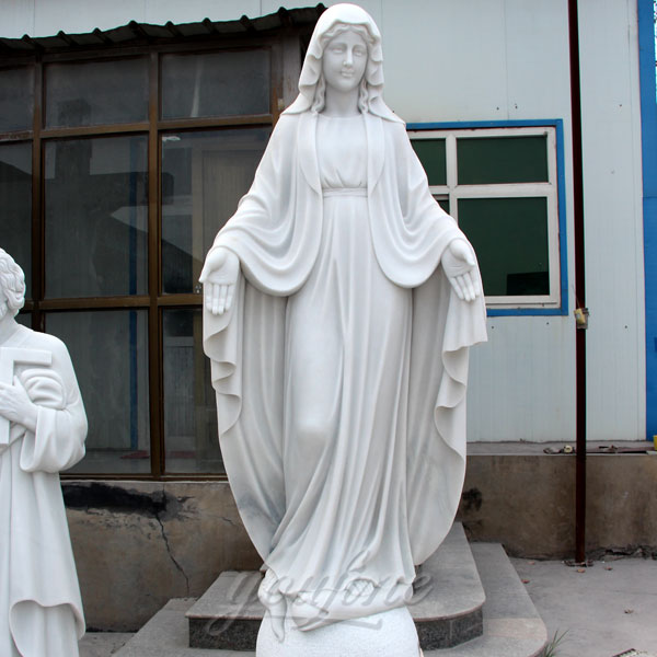 outdoor white marble mother mary statues for garden on sale