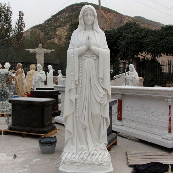 CHS-264 Great marble catholic statues of blessed mary our lady of Lourdes on discount sale for church decoration
