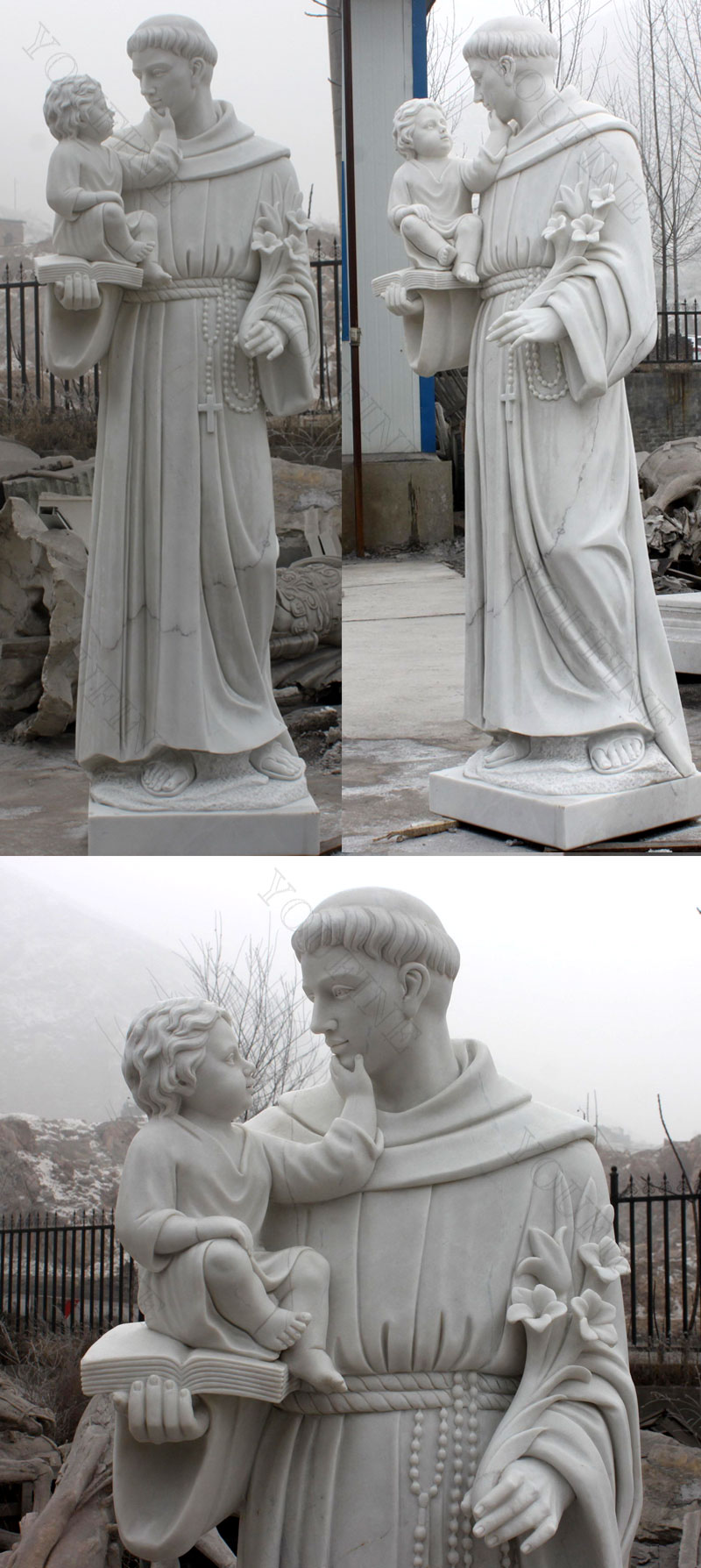 Religious marble statues of St. Anthony designs