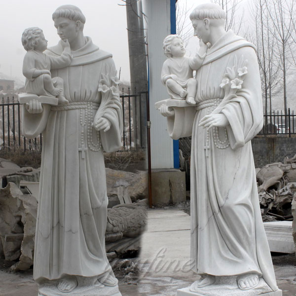 Catholic garden saint marble statues of St. Anthony for sale